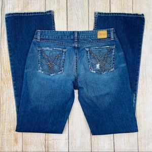 Buckle BKE Blue Star 20 Boot Cut Jeans, Distressed